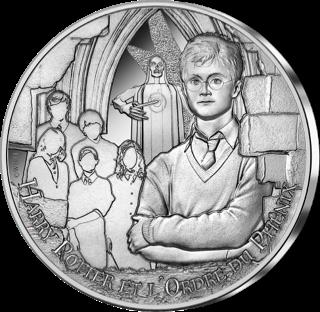 Pièce Harry Potter de 10€ en argent par la monnaie de Paris - Armée de Dumbledore, Ordre du phénix