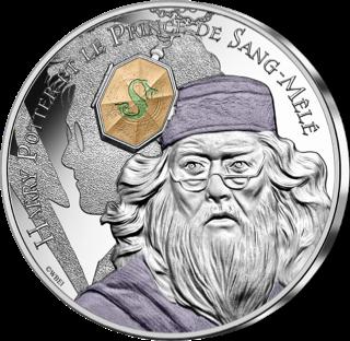 Pièce Harry Potter de 10€ en argent par la monnaie de Paris - Dumbledore et médaillon de serpentard